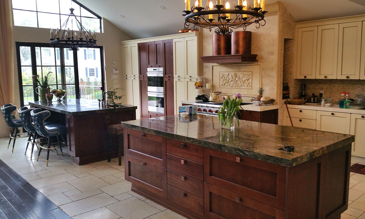 Modern Metal and Wood Custom Kitchen